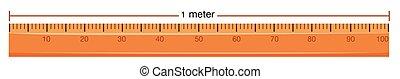 regla de madera, metro, medida
