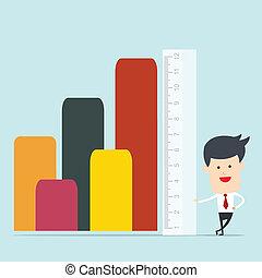 regla, uso, hombre, empresa / negocio, medida