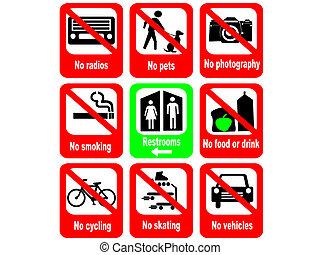 reglas, atracción, turista
