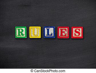 reglas, concepto