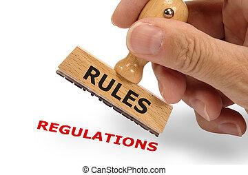 reglas, regulaciones