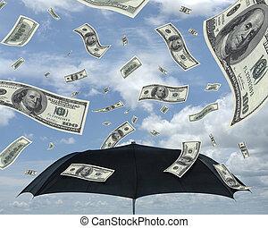 regn, i, dollare
