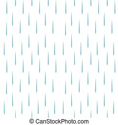 regna, mönster, vektor, seamless, droppar