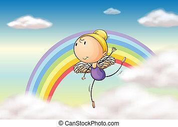 regnbåge, ängel