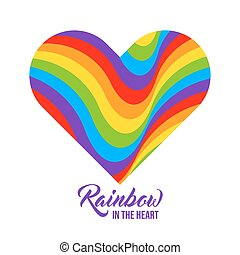 regnbåge färgade, hjärta, lgbt, colors.