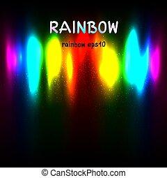 regnbåge färgar, lätt, bakgrund, text