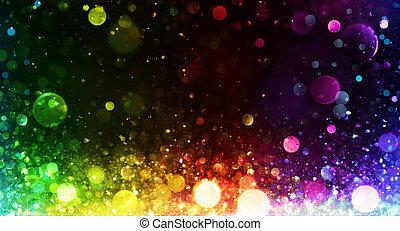 regnbåge, lyse, bakgrund, parti
