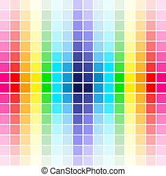 regnbåge, palett, färger