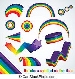 regnbåge symbol, sätta
