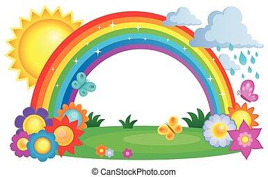 regnbåge, topic, avbild, 2