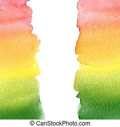 regnbåge, vattenfärg, bakgrund