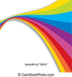 regnbue, abstrakt, baggrund
