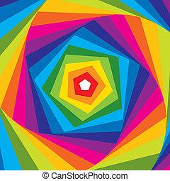regnbue, abstrakt, vector., swirl.