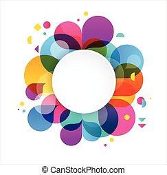 regnbue, begreb, farverig, plakat, plaske, abstrakt, farve, baggrund, vektor, konstruktion