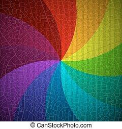 regnbue, farverig, abstrakt, pattern., spiral, baggrund., vektor, retro