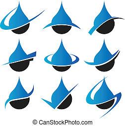 regndroppe, ikonen