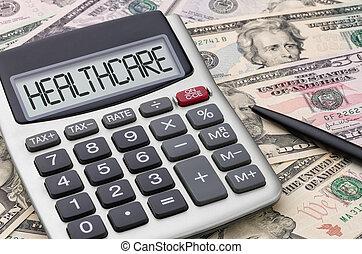 regnemaskine, hos, penge, -, healthcare