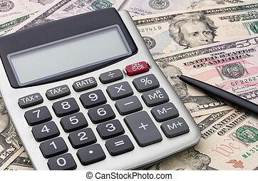 regnemaskine, hos, penge
