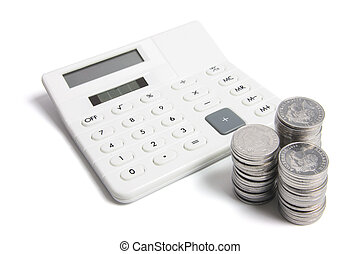 regnemaskine, og, mønter