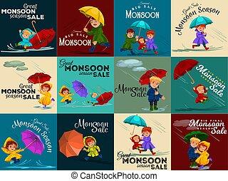 regnen, gehen, liebe, familie, hand, tropfender , besitz, unter, vati, schirm, paar, regen, abbildung, mutti, baby, hände, pfützen, wolkenhimmel, ehefrau, vektor, regentropfen, ehemann