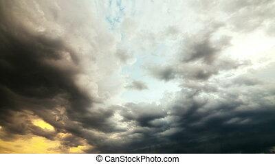 regnen wolke, dramatisch, hintergrund, timelapse