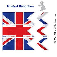 regno, astratto, unito, bandiera