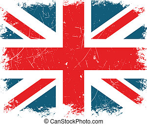 regno, bandiera, vettore, unito