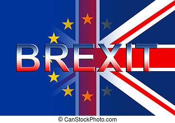 regno, brexit, mezzi, gran bretagna, remain, bandiere, ...