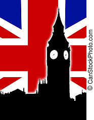 regno, grande, bandiera, unito, ben