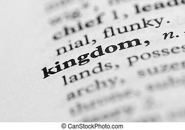 regno, serie, -, dizionario