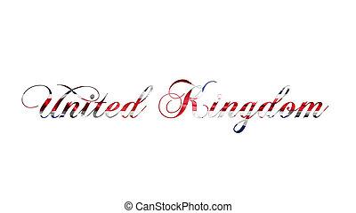 regno, unito, testo, illustrazione, scritto, fondo, bianco, 3d