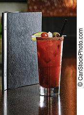 regolazione, alcolico, cocktail, ristorante
