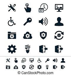 regolazione, icone