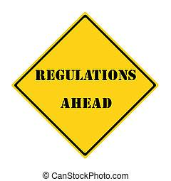 regolazioni, avanti, segno