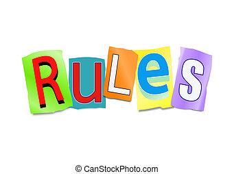 regole, concept.