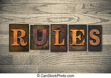 regole, legno, concetto, tipo, letterpress