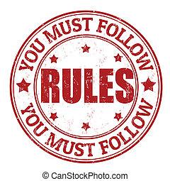 regras, selo