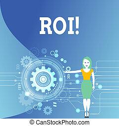 regreso, empresa / negocio, ganancia, foto, actuación, roi., escritura, nota, efficiency., medida, showcasing, evaluación, perforanalysisce