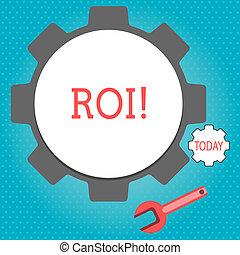 regreso, empresa / negocio, ganancia, texto, actuación, roi., señal, efficiency., medida, conceptual, evaluación, perforanalysisce, foto