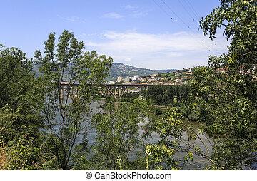 regua, sur, panoramique, douro, rivière, ?, vue