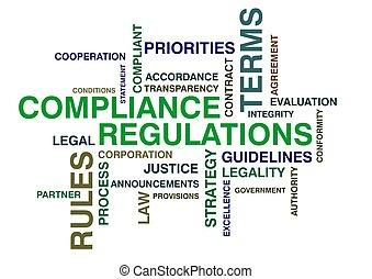 regulaciones, wordcloud, conformidad
