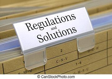 regulaciones, y, soluciones