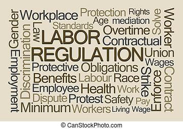 regulamento, palavra, nuvem, trabalho