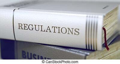 regulamentos, concept., livro, 3d., title.