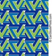 Regular extraordinary geometric seamless pattern with...