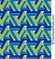 Regular extraordinary geometric seamless pattern with overlapping triangles. Vivid continuous texture, best for graphic and web design.