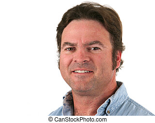 Regular Guy 2 - A closeup of a ruggedly handsome man,...