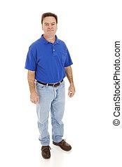 Regular Guy - Full Body - Average, casually dressed man in ...