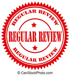 Rubber stamp with text Regular Review, vector illustration