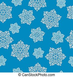 regular, seamless, snowflake